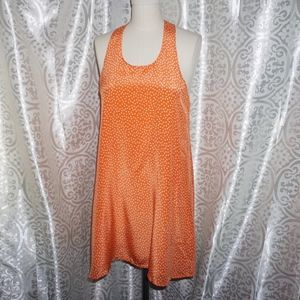 Sara Campbell summer silk tunic mini dot dress M